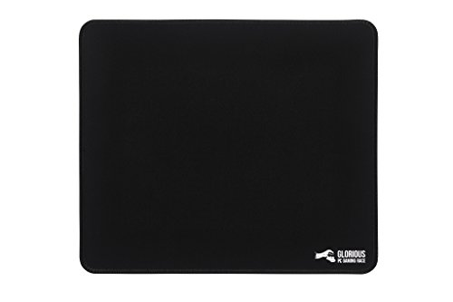 Glorious Large Gaming Mouse Mat / Pad – Stitched Edges, 2mm thick, Black Mousepad | 11″x13″x0.08″ (G-L)