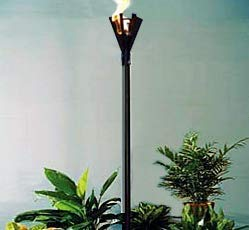 Big Kahuna Gas Torch (Tiki) -Fin Style, Permanent Mount-, 2 Pack!, Landscape, LP, Propane, Natural Gas Torch, Gas Torch …