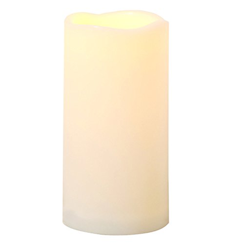 """Outdoor Battery Operated Flickering Flameless Candle with Timer Waterproof LED Decorative Light for Halloween Thanksgiving Christmas Wedding Party Event Home Kitchen Decorations Decor Supplies 3""""x6"""""""