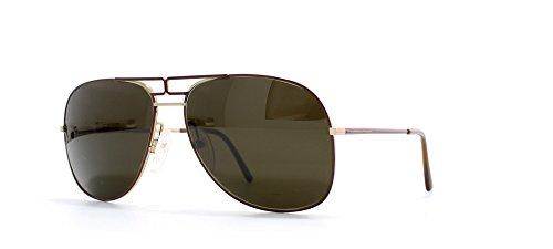 Essilor 348 001 Red and Gold Authentic Men - Women Vintage - Sunglasses Essilor