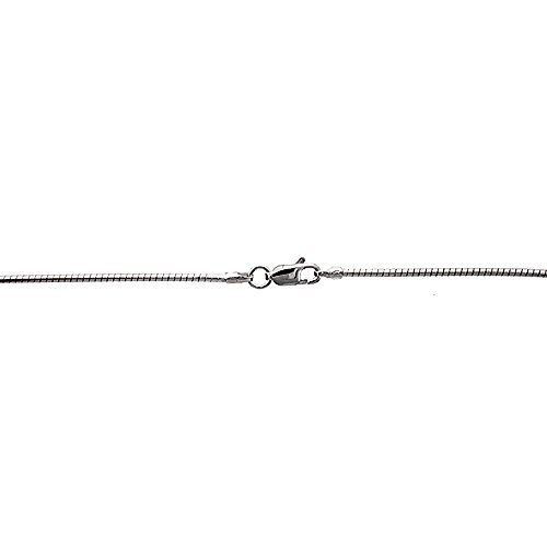 Sterling Silver Soft Wire Round Omega Neck 1.5 mm Choker Nickel Free Italy, 18 inch