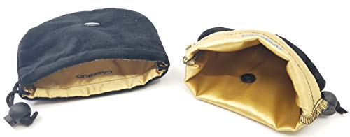 CASEBUDi Soft Watch Travel Case | 2 Pack | Black