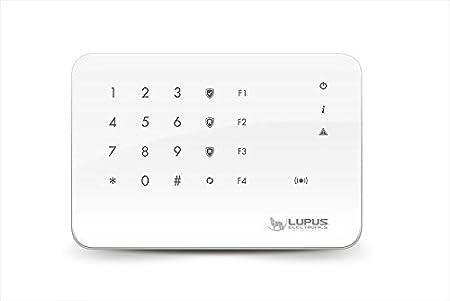 LUPUSEC Funk Fernbedienung V2 fü r die XT Smarthome Alarmanlagen, kompatibel mit der XT2 Funk Alarmanlage, verschlü sselte Ü bertragung 12108