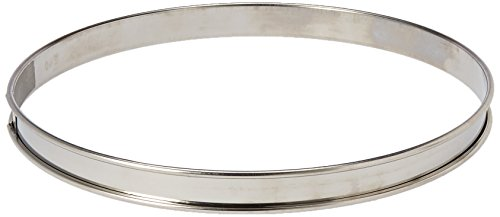 Matfer Bourgeat 371615 Plain Stainless Steel Tart Ring, 9.5
