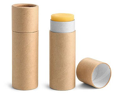 Paperboard Containers 1 oz Brown Paperboard Push Up Lip Balm Tubes 1 Dozen by Oils on Earth LLC by Earth