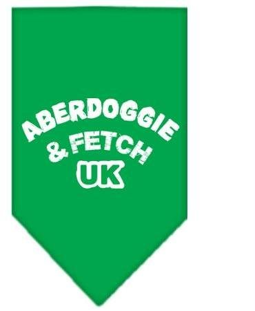 Aberdoggie UK Screen Print Bandana Emerald Green Large Case Pack 24 Aberdoggi... by DSD
