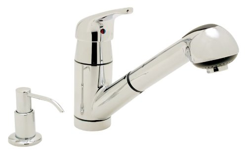 Ambassador Marine Universal Collection Pull-Out Galley Faucet with Soap Dispenser, Chrome