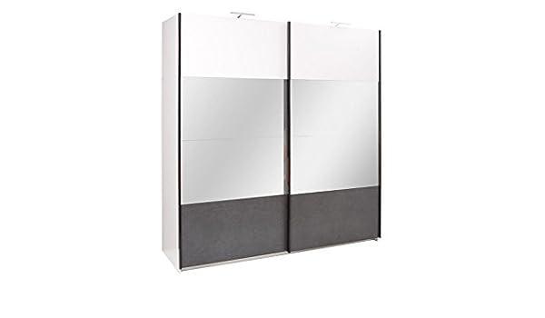 Armario, color: blanco, tamaño: 219 x 200 x 67 cm: Amazon.es: Bricolaje y herramientas