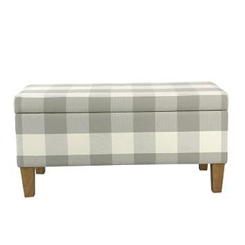 Bon Large Decorative Storage Bench, Gray