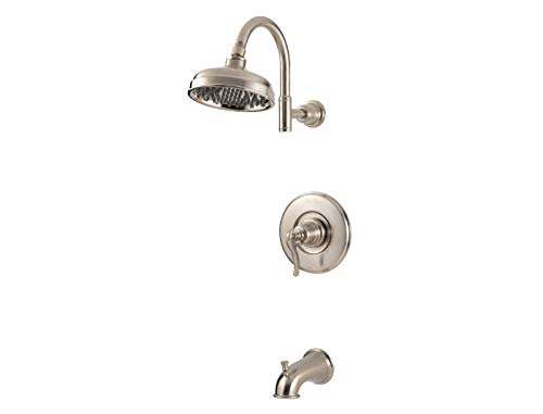 Ashfield One Handle - Pfister G89-8YPK Ashfield 1-Handle Tub & Shower Trim in Brushed Nickel, 2.0gpm