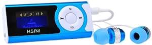 HSINI - Reproductor de MP3 con pantalla LCD, color azul
