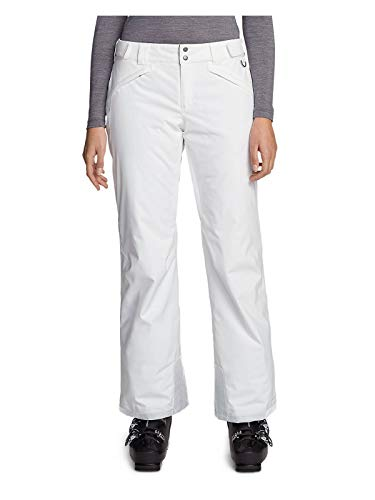 Eddie Bauer Women's Powder Search 2.0 Insulated Pants, White Regular L