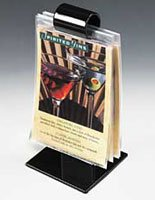 8.75'' Menu Roll, Table Tent, Flip Design, 10 Vinyl Sleeves, Set of 50, Black by Displays2go