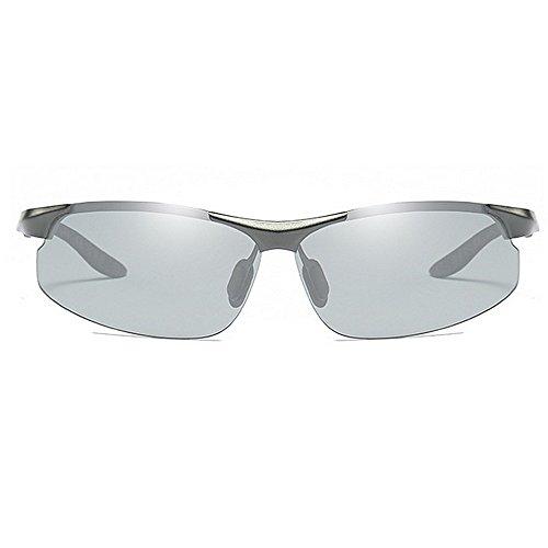 del Nocturna Sol Cambiantes Magnesio Gafas De De LBY del de Aluminio Gray Color De La Sol Los Color De Visión Deportes para del Gray Fotocromo Hombre Gafas qtwzt1v