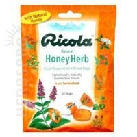 Ricola Throat Drops Natural Honey Herb 24 Each