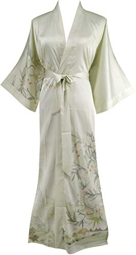 Ledamon Women's Silk Satin Kimono Long Robe