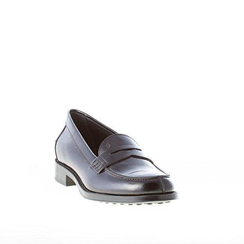 Penny Shoes Women Tod's Leather Black Black XXW0RU0H500SHAB999 Brushed Loafer UpWWaZ