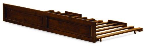 Atlantic Furniture Raised Panel Trundel Bed, Twin, Walnut