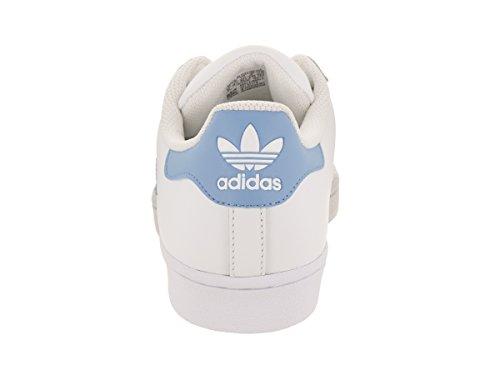 Adidas Originals Mens Superstar Foundation Tillfälliga Gymnastiksko Vit / Ljusblå-guld