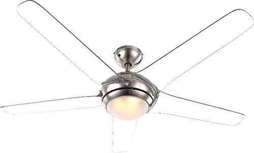 Ventilador de techo con iluminación LED 137 cm ventilador (mando a ...