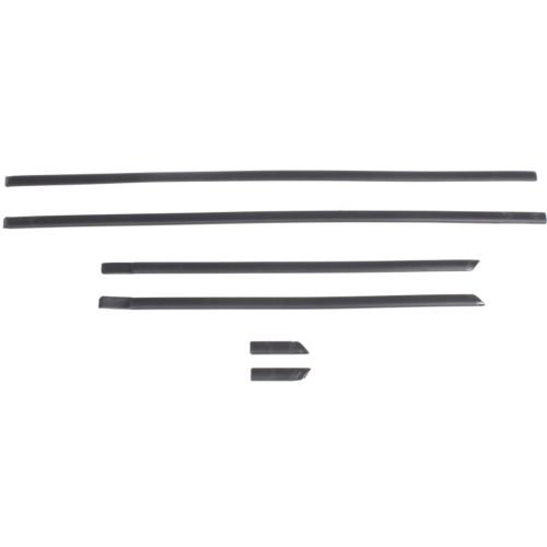 FRONT DOOR MOLDING, Assembly, 6 pcs - T462002 FOR 1993-1997 Toyota Corolla ()