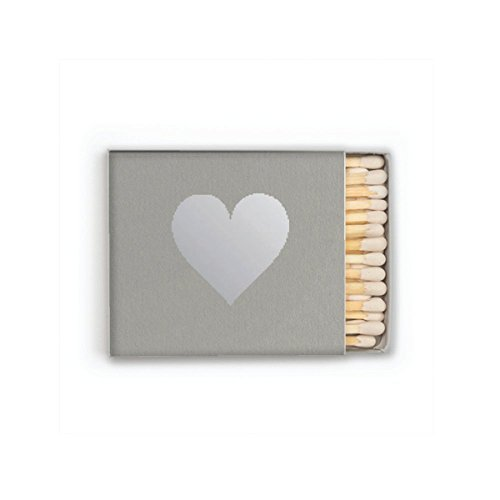 silver-foil-heart-matches