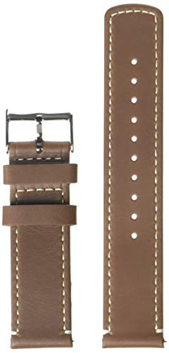 Barton Quick Release - Top Grain Leather Watch Band Strap - Choice of Width - 16mm, 18mm, 19mm, 20mm, 21mm 22mm, 23mm or 24mm - Saddle Brown/Linen 22mm