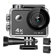 Action Camera 4K, Anmade M3 16MP WiFi Anti-Shake Waterproof Sports Camera with high-tech Sensor, 170 Degree Ultra Wide Angle 2.0 Inch LCD Screen Anmade