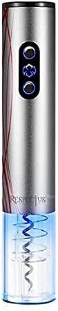 Sacacorchos Electrico - Abridor de botellas con Luz LED, Cortacápsulas, Escanciadores con Tapón y Anillo Anti-goteo