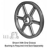 Browning 2TC86 Split Taper Sheave, Cast Iron, 2 Groove, C Belt, Uses Q1 Bushing