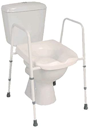 nrs healthcare g44869 mowbray free standing adjustable toilet seat and frame pre assembled