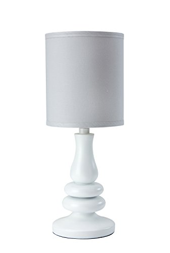 Little Love by NoJo Separates Collection Lamp and Shade, Grey/White ()