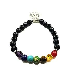 Bracelet Men Black Lava Healing Balance Beads Buddha Prayer Natural Stone Yoga Bracelet