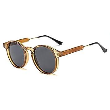 DXXHMJY Gafas de Sol Retro Gafas de Sol Redondas Hombres ...