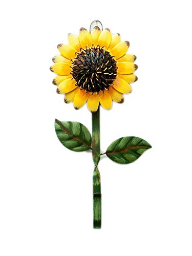 Rainbow Handcrafts Vintage Metal Sunflower Design Keys Aprons Kitchen Hangers Wall Decor Rustic Metal Wall Hook Accessories Holder Home Kitchen Sunflower Wall Décor