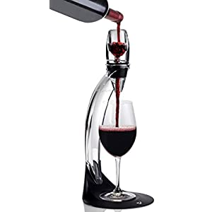 Vinturi Deluxe Essential Red Pourer and Decanter Tower Stand Set Easily and...