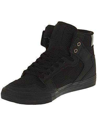 Supra VAIDER S28058 - Zapatillas de deporte de cuero para hombre Black/black