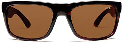 Zeal Optics Unisex Essential Polarized Demi Tortoise W / Copper Polarized Lens - Zeal Sunglasses