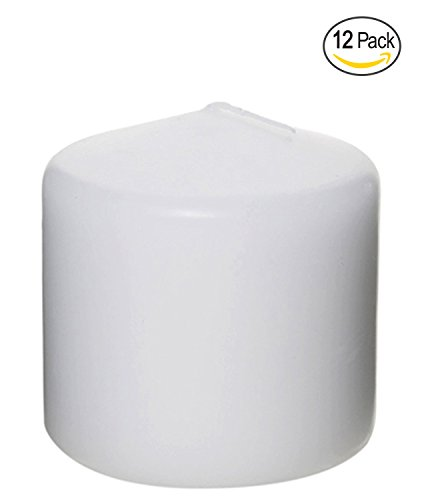 Pillar Candle for Wedding, Birthday, Holiday & Home Decoration by Royal Imports, 3x3, White Wax, Set of (Floral Wood Candle Holder)