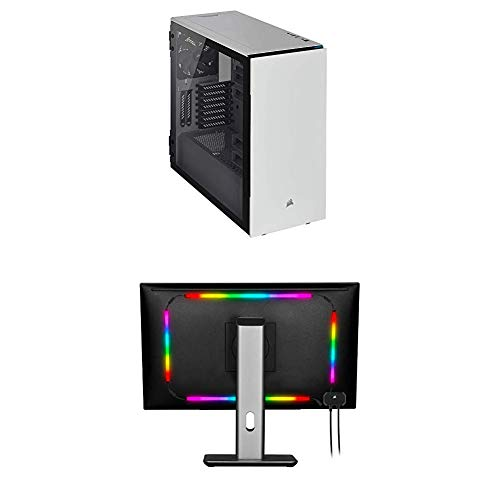 CORSAIR Carbide Series 678C Low Noise Tempered Glass ATX Case, White