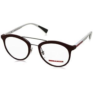 Prada PS01HV Eyeglass Frames U601O1-52 - Bordeaux Rubber