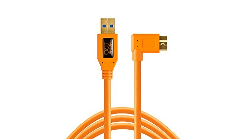 Tether Tools TetherPro 15 USB 3.0 Type-A Male to Micro-USB Right-Angle Male Cable, High-Visibility Orange