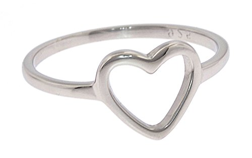 Sterling Silver Heart Ring - Ring Hearts Silver Plated Sterling