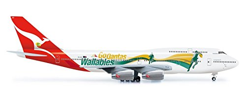 B747-400 (Qantas Go Wallabies ) (Herpa Wings 554664)