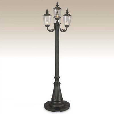 Cambridge Four Lantern Patio Lamp, Park Style Black - Park Globe Patio