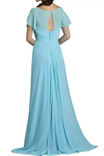 Brautmutterkleider Einfach Blau La Braut 2016 Marie Partykledier Lang Brautjungfernkleider V Ausschnitt xx0UBw