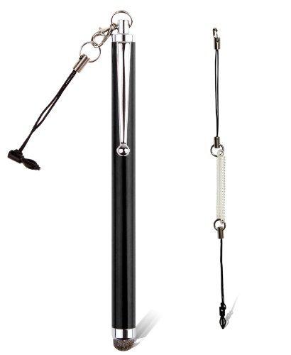 amPen Hybrid Stylus Pen - Interchangeable Hybrid Tip Touchscreen Stylus (Black) ()