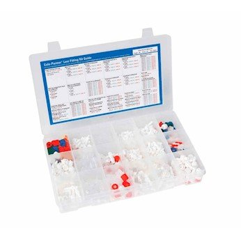 - Cole-Parmer Luer Fitting Kit, Assorted Materials/Sizes, 477 Pieces/Pk