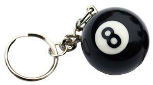 Schlüsselanhänger Billard-Kugel 8