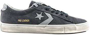 Converse Scarpa Uomo 158941C Sneaker pro Leather Vulc Distressed ox Grey fw 17/18